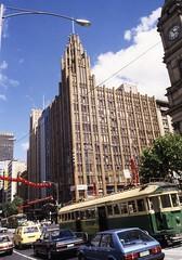 Melbourne Swanston St 091-107, 1985 20thC offices slides folder sheet 09  047 (Graeme Butler) Tags: architecture culture decoration events heritage history industry melbourne victoria australia