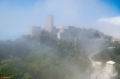 Castle in the Sky (PatrickWilmink) Tags: cloud castle pentax sicily erice k500