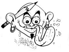 graffiti sticker (marcomacedo3) Tags: cholowiz graffiti sticker nazer26 mtsk paste stamp slaps collabs spraycan trade