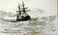 1887 SALAZIE File de l'huile en passant Cap Leuwin (MIKOS-35) Tags: les paquebots postes des messageries avaient une livre blanche lorsquils taient sur la ligne dextrmeorient sagon japon et coque noire autres lignes