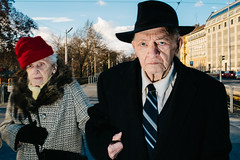 Budapest, Hungary 2016 (f.d. walker) Tags: street old shadow sky people woman sun sunlight man color men hat contrast person hands women couple europe hungary candid coat flash budapest colorphotography streetphotography streetportrait tie flashphotography clothes suit easterneurope candidphotography flashstreet flashstreetphotography