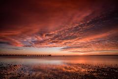 Wellington Point Sunrise 2 (RoosterMan64) Tags: longexposure sky seascape reflection clouds sunrise landscape au australia brisbane queensland wellingtonpoint leefilters