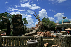 Poseiden's Fury Exterior (arteephact) Tags: statue landscape orlando florida amusementpark universalstudios themepark amount trident crumbled islandsofadventure 2016 thelostcontinent escapefromthelostcity poseidensfury sal1650 sonya77ii 1650mm28dt