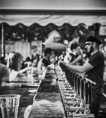 DSC_0153 BARMAN X CELL FULL HD (fotolanko) Tags: party bw italy beer shop 35mm photo nikon italia foto bn fotografia nikkor f18 della festa birra bianco nero biancoenero lazio abruzzo sfocato 7200 monocromatico borgorose spillare d7200