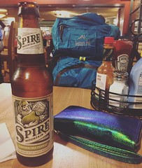 Sweet airport dinner date with my blue backpack & a cider  if you can't tell, even my luggage now has a color scheme.  #seatac #wanderlust #digitalnomad #almostthere #otherworld (ClevrCat) Tags: blue color dinner airport with you tell sweet cider cant luggage wanderlust backpack if even date now scheme seatac has otherworld almostthere digitalnomad instagram ifttt