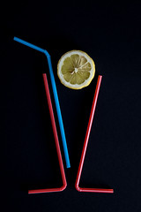 Cheers! (PeterPaulP) Tags: party abstract glass lemon colorful long drink cocktail cheers straws longdrink