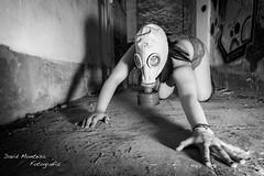 Sesin con David Montesa (TrishAngeliquePhotography) Tags: woman blanco girl nude photography model y mask negro wb lingerie seminude fotografa ropainterior lencera semidesnudo
