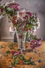 THEN,...ARRANGE THEM,....NICELY!!!, ..IN A VASE!! (D-W-J-S) Tags: flowers flower fisheye tokina montypython dp python mallet arrangement hdr monty gumby flowerarrangement arranging 1017mm