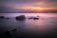 When the sun doesn't go down (Juho Mkinen) Tags: longexposure finland summer water ocean waterscape night sigma porkkala peninsula baltic sea nikon
