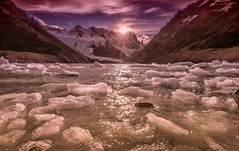 In Beautiful Light ( (Ping...) Tags: light sunset patagonia mountain ice rock clear iceberg frozenlake floatingice glaicer patagoniaargentina cerrotorre losglaciaresnationalpark lagunatorre