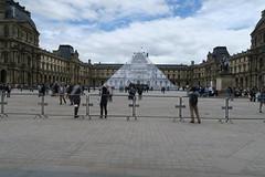 Pyramide du Louvre- JR au Louvre (CamJrOff) Tags: arcdetriomphe jr paris town city old vintage road life france art photographie pic picture instagood hdr architecture filter photooftheday g7x louvre pyramide sculpture batiment