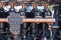Old Engine (jfsampsonphotos) Tags: black closeup canon vintage eos gold mechanical engine engineering firetruck piston photograph 1928 sparkplug camshaft 70d ahrensfox