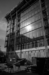 (patrickkuhl) Tags: street blackandwhite building monochrome wisconsin architecture blackwhite construction 28mm streetphotography madison gr madisonwi ricoh ricohgr wisco capitolsquare wisc