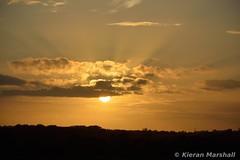 Stacumny Bridge, 27/6/16 (hurricanemk1c) Tags: sunset irish train rail railway trains railways irishrail countykildare 2016 iarnrd ireann iarnrdireann stacumny stacumnybridge