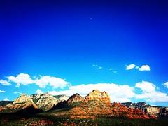 Sedona (Techjunkie00) Tags: blue arizona sky white mountain clouds sedona redrock iphone