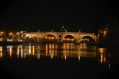 Roma (alice 240) Tags: travel bridge light urban cinema roma film tourism water architecture night reflections nikon europa flickr poetry magic contest dream capitale notte autofocus afotando simplysuperb laquintaessenza alicealicjacieliczka alice240