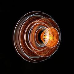 (C Searle) Tags: longexposure light orange lightpainting lines canon painting circle long exposure circles optics fibreoptics fibre 70d sooc