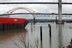 fraser river (danna  curious tangles) Tags: bridge skytrain patullo