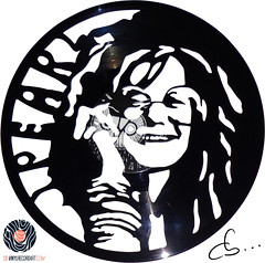 Handmade Vinyl Record Art - Janis Joplin (Cb375) Tags: music art rock handmade vinyl blues craft record interiordesign janisjoplin rocklegend 27club