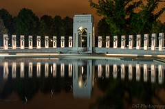 WWII Memorial09.jpg (trbl_2) Tags: world 2 reflection dan monument glass night sunrise mall photography washingtondc dc washington memorial war district columbia national ii ww reflectingpool girard timedexposure dangirard