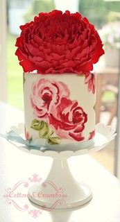 Handpainted cake by Cotton and Crumbs
