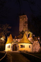 Burgtor, Rothenburg (Jim LaFleur) Tags: winter nacht architektur lowkey rothenburg reise