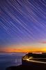 (drfugo) Tags: sunset sea england lighthouse night stars lights star sussex bluehour beachyhead startrail belletout canon50mmf18ii canon5dmkii