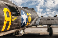 Memphis Belle (NikonDigifan) Tags: illustration photoshop airplane nikon spokane wwii b17 nik bomber hdr feltsfield d300 memphisbelle warplanes colorefexpro