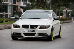 BMW Series 3 - RT3558 (Keith Mulcahy) Tags: auto cars hongkong automobiles newterritories whitecars smd lukkeng canon70200mm germancars sundaymorningdrive bmwseries3 canon5dmk3 keithmulcahy rt3558 blackcygnusphotography ppa7a0 ppd56c