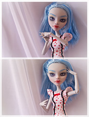 Ghoulia repaint (Purple Raccoon) Tags: mh yelps ghoulia monsterhigh
