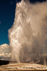 There She Blows (tabitha hawk photography) Tags: travel sky nature water clouds landscape outdoors nationalpark unitedstates hiking oldfaithful yellowstonenationalpark yellowstone wyoming geyser tabithahawk wwwtabithahawkcom