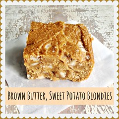 Brown Butter, Sweet Potato Blondies with White Chocolate, Dried Cranberries, and Pepitas. blogged! (holiday_jenny) Tags: bar recipe dessert sweet cranberries blondie sweetpotato blondies whitechocolate