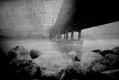 Bridge (Salt.as) Tags: bridge seascape rio paper diy 26 large scan pinhole greece negative homemade developer format ilford min 114 patra 13x19 95mm achaia mgiv