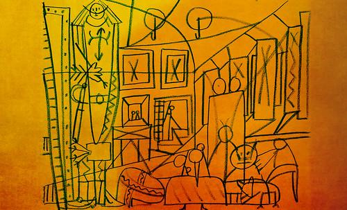 """Meninas, iconósfera de Diego Velazquez (1656), estudio de Francisco de Goya y Lucientes (1778), paráfrasis y versiones Pablo Picasso (1957). • <a style=""""font-size:0.8em;"""" href=""""http://www.flickr.com/photos/30735181@N00/8746868925/"""" target=""""_blank"""">View on Flickr</a>"""