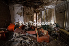 Photo: Abandoned House Interior 002 (IBuyPhotos) Tags: old windows light house abandoned chair peeling chairs furniture room seat ruin dirty holes ceiling seats walls dust armchair derelict dilapidated crumbling fragments armchairs ibuyphotoscom ibuyphotos