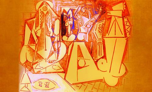 """Odaliscas (Mujeres de Argel) yuxtaposición y deconstrucción de Pablo Picasso (1955), síntesis de Roy Lichtenstein (1963). • <a style=""""font-size:0.8em;"""" href=""""http://www.flickr.com/photos/30735181@N00/8748000116/"""" target=""""_blank"""">View on Flickr</a>"""