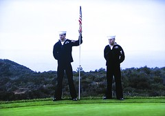 Torrey Pines GC (South) - the Navy Attending the Pin Flag (rbglasson) Tags: california golf landscape tv torreypines lajolla canons5is
