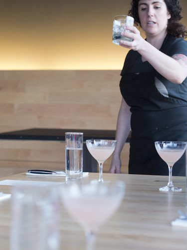 Bartender serving cosmos