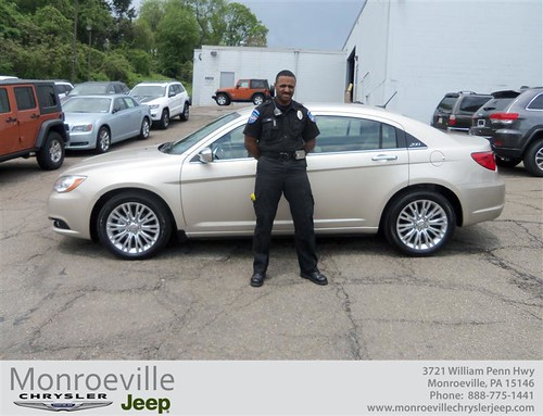 Monroeville Chrysler Jeep would like to say Congratulations to Andre Acie on the 2013 Chrysler 200 Series
