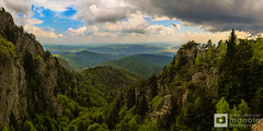 View from Cozia Mountains (Mihai Sebastian Manole) Tags: travel light mountain mountains color clouds creek canon river high rocks natural hiking altitude valley romania carpathians munti nori carpati olt carpathian munte rau valea 1635mm culori stanci oltului cozia culoare