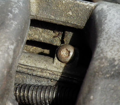 Knackered bolt (Fiat Marea) Tags: car race corner silver toy track fiat suspension shocks cam wheels engine engineering rubber tires springs housing brakes straight saloon alloys tyres ebc marea wolfrace