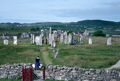 Well patronized: Callanish Stone Circle, Lewis (1996) (Duncan+Gladys) Tags: uk scotland callanish rossandcromarty