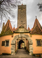 Rothenburg ob der Tauber Germany - Town Gate and Walls with Tower (mbell1975) Tags: old tower castle wall germany bayern deutschland bavaria town gate europe with entrance franconia medieval german ob portal walls tor turm der altstadt fortress rothenburg deutsch odt tauber roethenburgodtgermany