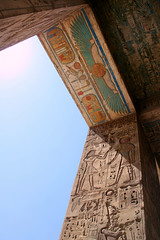 Enter the ancient.. (areyarey) Tags: africa old travel light sky sun west colour heritage history archaeology monument rock stone architecture religious outdoors temple ancient ruins symbol god antique decorative religion pray tomb ruin egypt culture bank landmark carving structure unesco doorway empire egyptian pharaoh historical civilization luxor past archaeological archeology ramses thebes hieroglyphics medinet engrave antiquity cartouche medinethabu antiquities rameses ramesses excavations habu ramessesiii areyarey