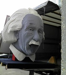 Albert Einstein (KLIKK Hungarian LEGO Fan Community) Tags: building table toy play lego adult competition science creation conference moc