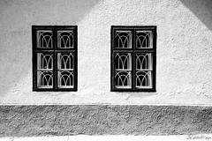 A life together. (LaPanteraRosa.) Tags: windows shadow blackandwhite bw window hungary minimal ultrawide magyarorszg shadowonthewall dunakanyar zebegny sonyalpha700 sigma816
