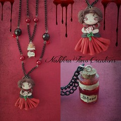 Vampire with Bottled Blood Polimer Clay (Nakihra Fimo Creations) Tags: halloween girl handmade vampire magic clay pendant jewel mistery polimer