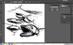 Kings (NoComplysAreIn) Tags: sport illustration mackerel fishing king tshirt illustrator kingfish