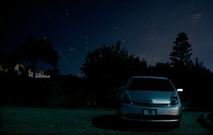 Orion and Prius (artfilmusic) Tags: sky car night prius orion