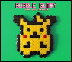 Pikachu (Bubble Gummy pixel art) Tags: nintendo videogames pikachu pokemon videogame videojuego videojuegos hamabeads perlerbeads bubblegummy bubblegummypixelart